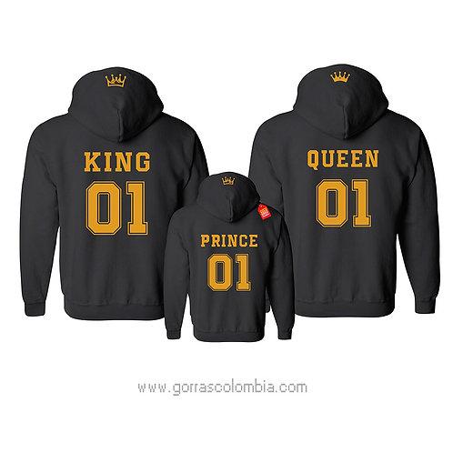 busos negros para familia king queen y prince numero
