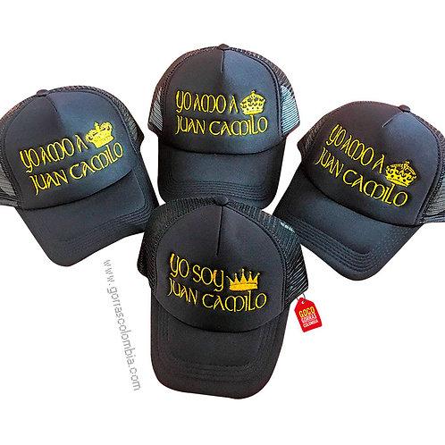 gorras negras unicolor para familia coronas yo amo a