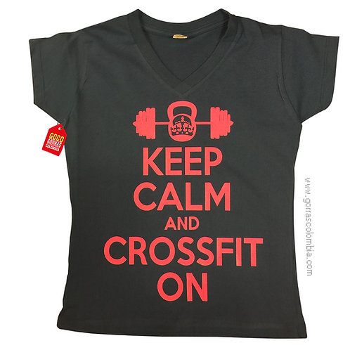camiseta negra personalizada crossfit on