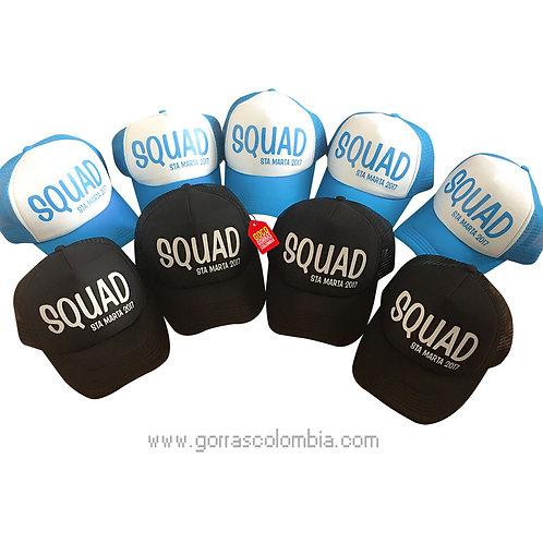 gorras de varios colores para fiesta squad