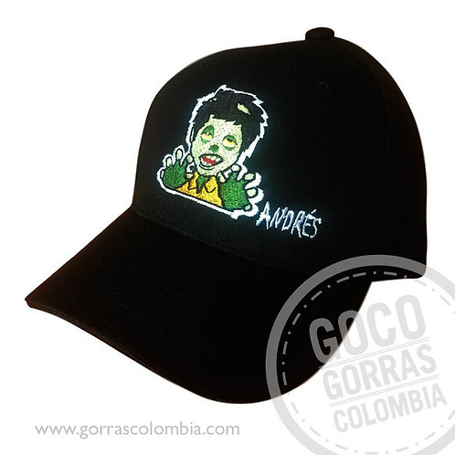 gorra negra unicolor personalizada zombie
