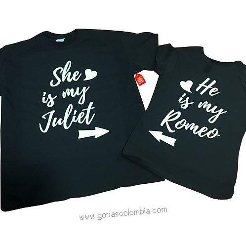 camisetas negras para pareja de romeo and juliet
