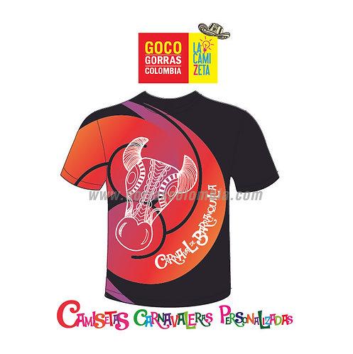 camiseta negra carnaval de barranquilla yegua