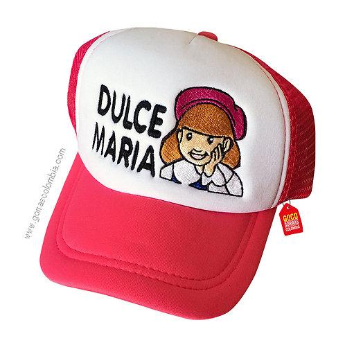 gorra fucsia frente blanco para niña dulce maria