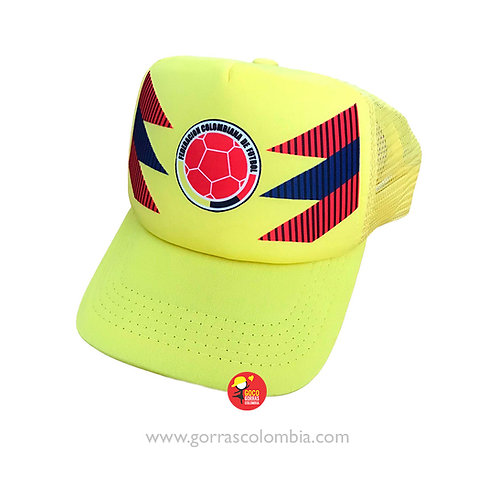 gorra amarilla unicolor personalizada seleccion colombia