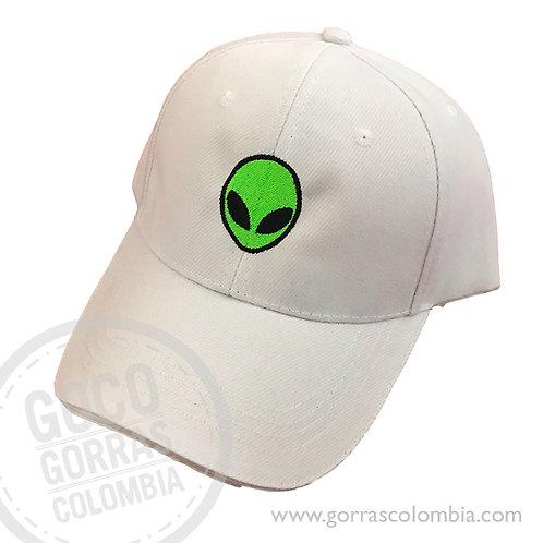gorra blanca unicolor personalizada alien