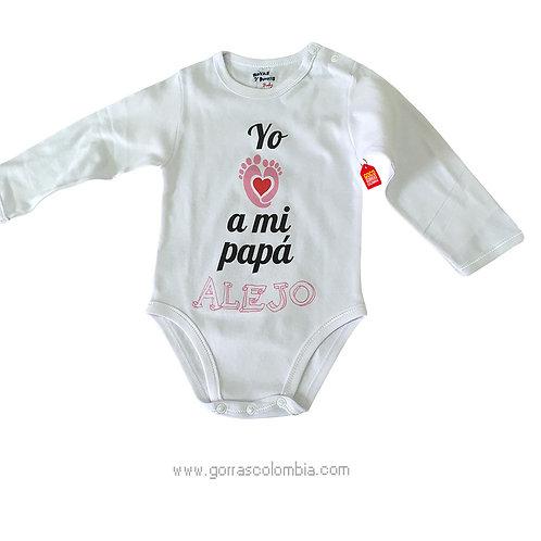 body blanco para bebe de yo amo a mi papa