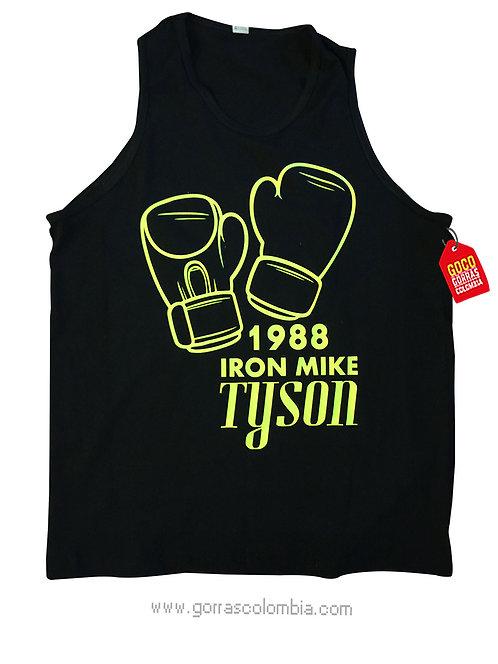 camiseta negra personalizada mike tyson