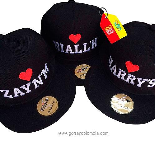 gorras negras unicolor para amigos corazon