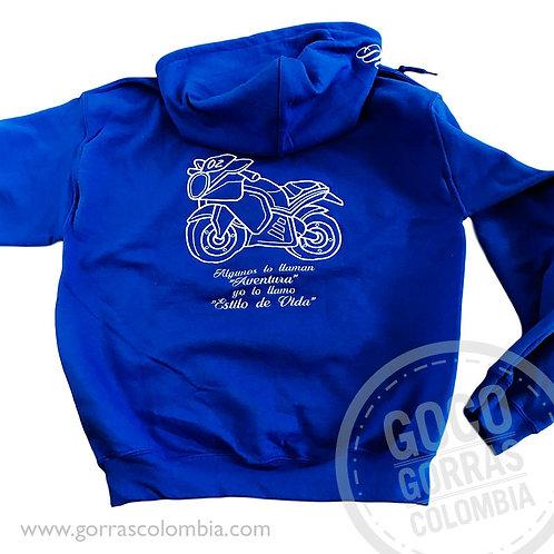 buso azul rey personalizado moto silueta