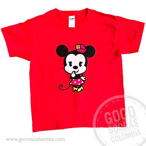 camiseta roja para nina de minnie cute