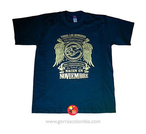 camiseta azul personalizada solo los mejores