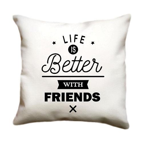 cojin blanco personalizado friends