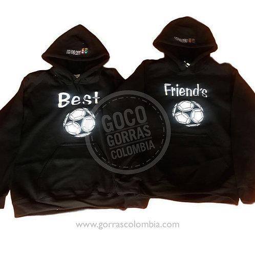 busos negros para amigas best friends futbol