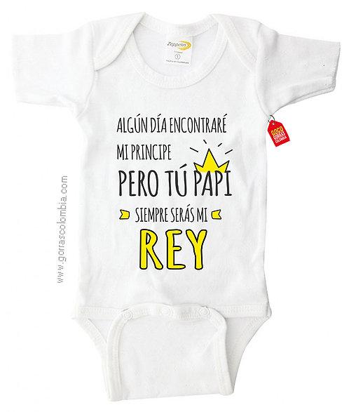 body blanco para bebe de papi siempre seras mi rey