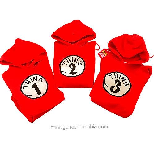 busos rojos con capota para familia thing