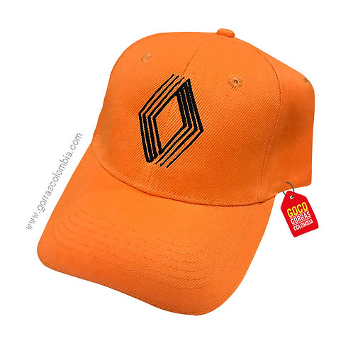 gorra naranja unicolor personalizada renault