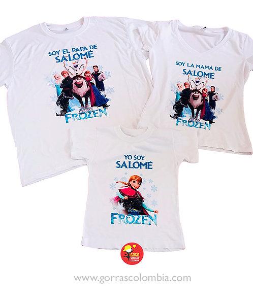 camisetas blancas para familia frozen