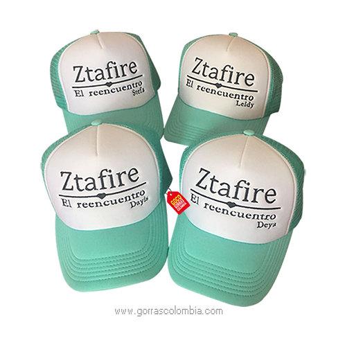 gorras verdes frente blanco para amigas reencuentro