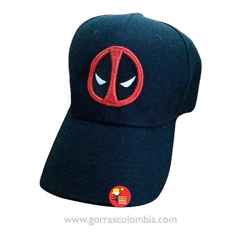 gorra negra unicolor de super heroes dead pool