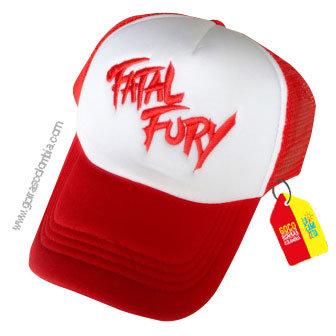 gorra roja frente blanco personalizada fatal fury