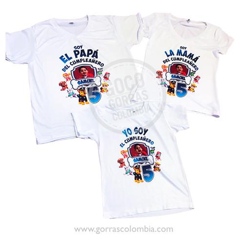 e1b66b7d8 camisetas blancas para familia patrulla canina ...