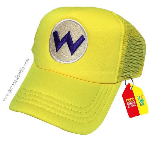 gorra amarilla unicolor de superheroes super wario