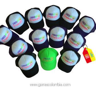 gorras negras frente blanco para fiesta hbd