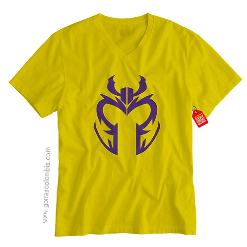 camiseta amarilla de superheroes magneto