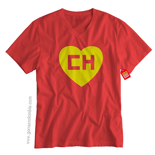 camiseta roja de superheroes chapulin