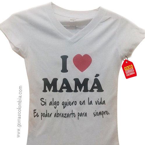 camiseta blanca para niña i love mama
