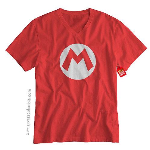 camiseta roja de superheroes super mario