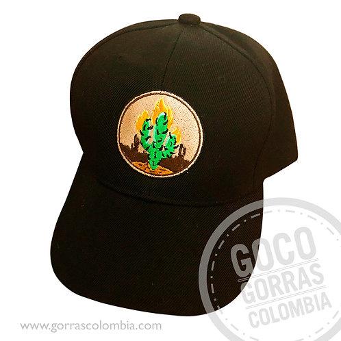 gorra negra unicolor personalizada captus