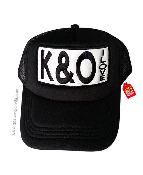 gorra negra unicolor personalizada i love iniciales
