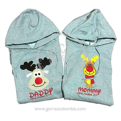 busos grises para familia renos navidad daddy mommy