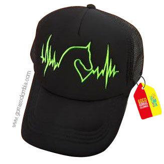 gorra negra unicolor personalizada cardio caballo