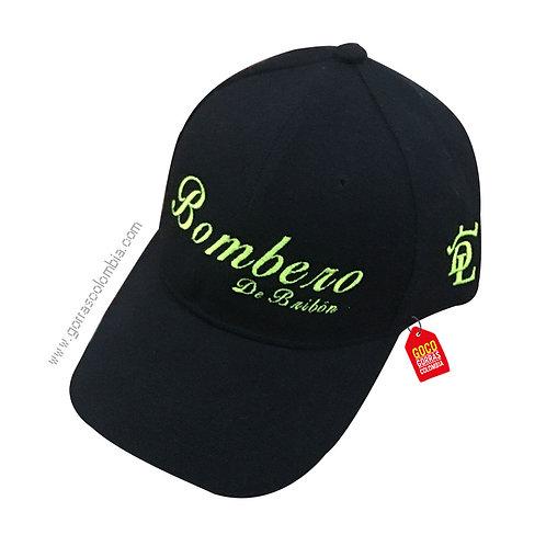 gorra negra unicolor personalizada bombero bride