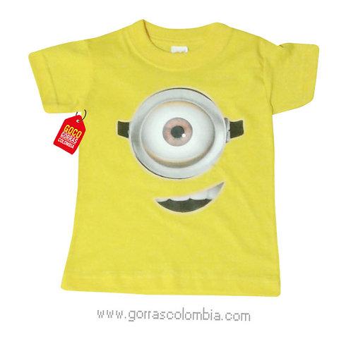 camiseta amarilla para niño de minion