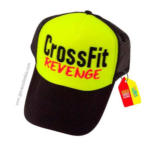 gorra negra frente verde personalizada crossfit revenge