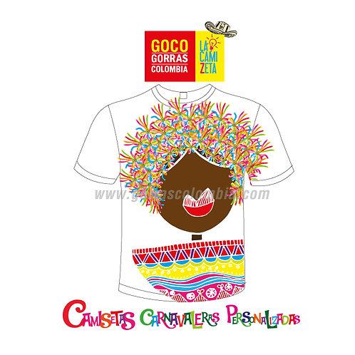 camiseta blanca carnaval de barranquilla pulby morena