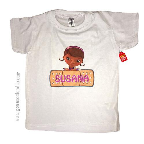 camiseta blanca para niña de doctora juguetes