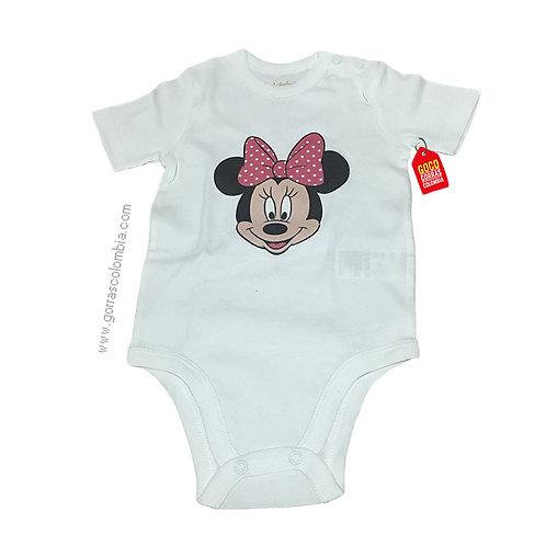 body blanco para bebe de minnie