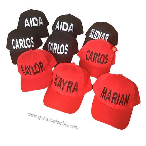 gorras negra y roja unicolor para fiesta nombres