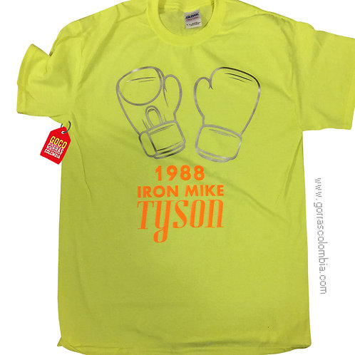 camiseta verde personalizada mike tyson