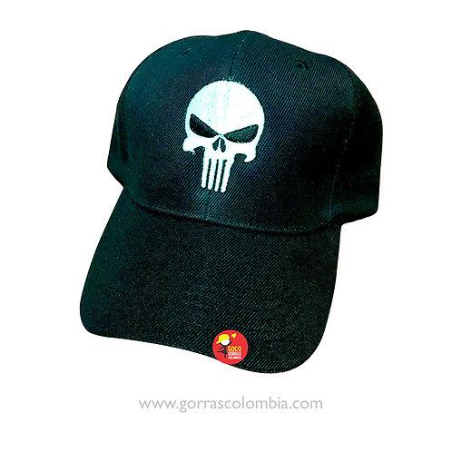 gorra negra unicolor para superheroes punisher