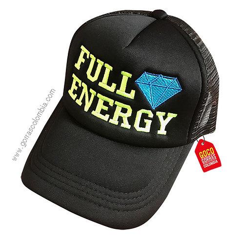 gorra negra unicolor personalizada full energy