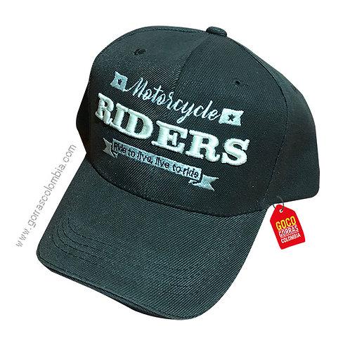 gorra negra unicolor personalizada riders