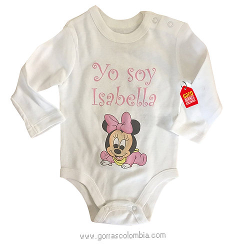 body blanco para bebe de minnie baby