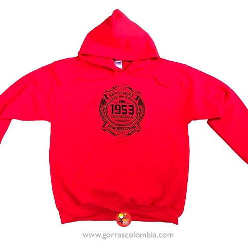 buso rojo con capota personalizado awesome