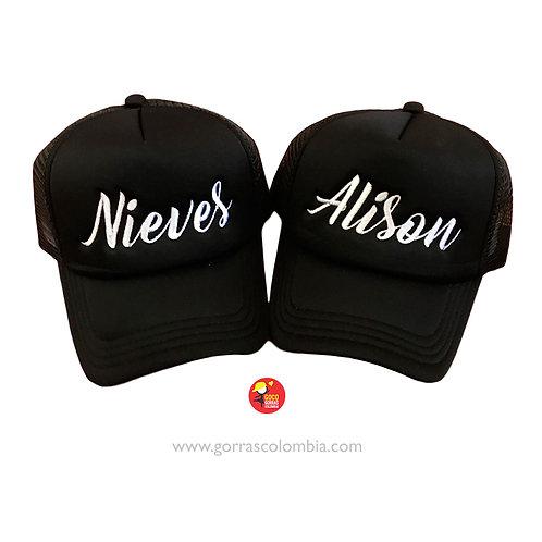 gorras negras unicolor mama e hija